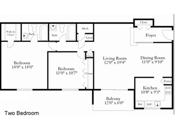 Apartment Floorplans For Barclay Square In Beltsville